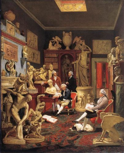 Charles Towneley in his Sculpture Gallery, 1782 by Johann Zoffany