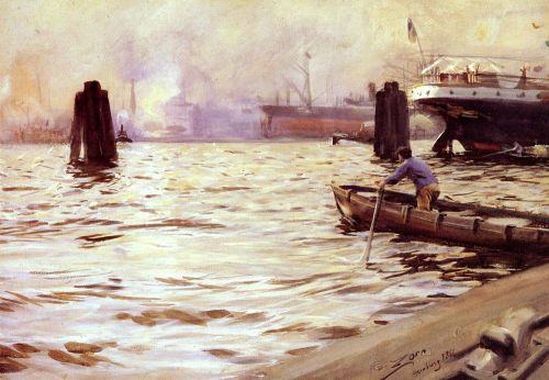 Hamburgs Hamn by Anders Zorn