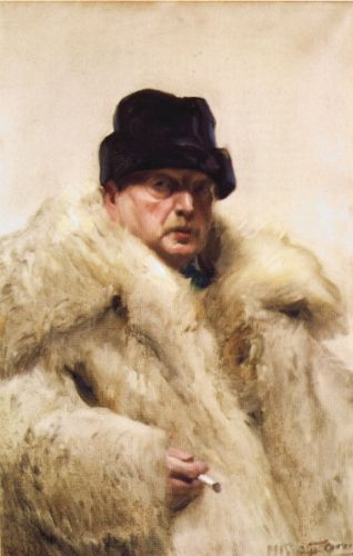 Self-Portrait in a wolfskin by Anders Zorn