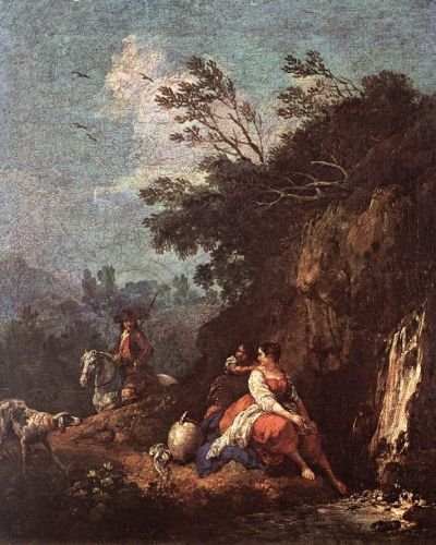 Landscape with a Rider by Francesco Zuccarelli